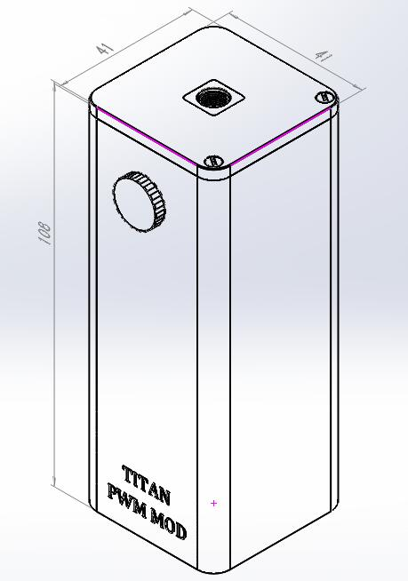 Steam Crave Titan PWM Mod Max power 300W VV Box Mod Size